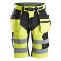 FlexiWork, Short+ haute visibilité avec poches holster, Classe 1