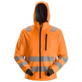 AllroundWork, Sweat à capuche zippé haute visibilité, Classe 2/3